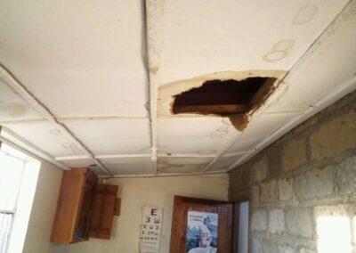 Reparación tejado hospital